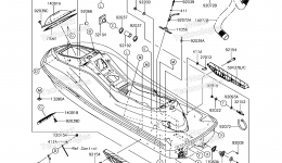 Hull для гидроцикла KAWASAKI JET SKI ULTRA 310R (JT1500NHF) 2017 г.