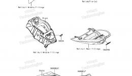 Decals(PFF) для гидроцикла KAWASAKI JET SKI ULTRA 310X (JT1500PFF) 2015 г.