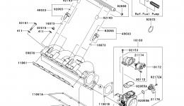 THROTTLE для гидроцикла KAWASAKI JET SKI STX-15F (JT1500ADF)2013 г.