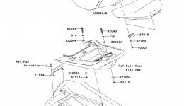 SEAT для гидроцикла KAWASAKI JET SKI ULTRA LX (JT1500GAF) 2010 г.