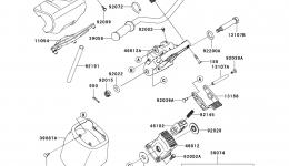 Румпель (рукоятка управления) для гидроцикла KAWASAKI JET SKI ULTRA 260X (JT1500E9F) 2009 г.