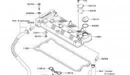 Крышка головки блока цилиндров для гидроцикла KAWASAKI JET SKI ULTRA 260X (JT1500E9F) 2009 г.