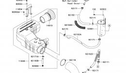 Intake Silencer для гидроцикла KAWASAKI JET SKI ULTRA 260LX (JT1500F9F)2009 г.