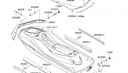 Pads для гидроцикла KAWASAKI JET SKI ULTRA 260X (JT1500E9F) 2009 г.