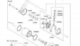Стартер для гидроцикла KAWASAKI JET SKI ULTRA 260LX (JT1500F9F)2009 г.