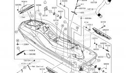 Hull для гидроцикла KAWASAKI JET SKI ULTRA 310X (JT1500LHF) 2017 г.