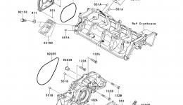 Engine Cover(s) для гидроцикла KAWASAKI JET SKI ULTRA 300X (JT1500HDF) 2013 г.