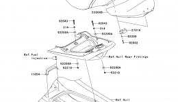 SEAT для гидроцикла KAWASAKI JET SKI ULTRA 260LX (JT1500F9F)2009 г.