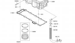 Cylinder/Piston(s) для гидроцикла KAWASAKI JET SKI ULTRA 300X (JT1500HDF) 2013 г.