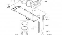 Cylinder/Piston(s) для гидроцикла KAWASAKI JET SKI ULTRA 260X (JT1500E9F) 2009 г.