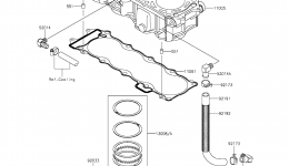 Cylinder/Piston(s) для гидроцикла KAWASAKI JET SKI ULTRA LX (JT1500KCF) 2012 г.