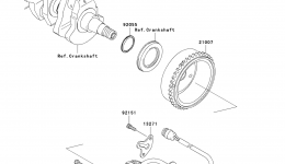 GENERATOR для гидроцикла KAWASAKI JET SKI STX (JT1500DAF) 2010 г.