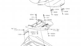 SEAT для гидроцикла KAWASAKI JET SKI ULTRA LX (JT1500KCF) 2012 г.