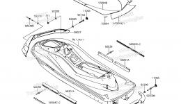 Pads для гидроцикла KAWASAKI JET SKI ULTRA 310X (JT1500LFF) 2015 г.