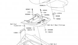 SEAT для гидроцикла KAWASAKI JET SKI ULTRA 260X (JT1500E9F) 2009 г.