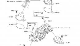 ENGINE MOUNT для гидроцикла KAWASAKI JET SKI ULTRA 260LX (JT1500F9F)2009 г.