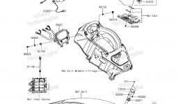 METERS для гидроцикла KAWASAKI JET SKI ULTRA 310X (JT1500PEF) 2014 г.