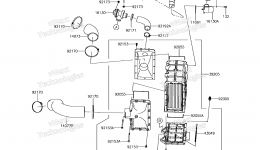 Inter Cooler для гидроцикла KAWASAKI JET SKI ULTRA 310X (JT1500PEF) 2014 г.