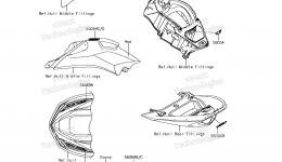 Decals(PEF) для гидроцикла KAWASAKI JET SKI ULTRA 310X (JT1500PEF) 2014 г.