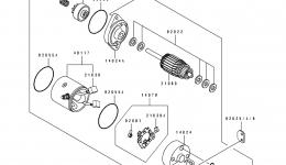 Стартер для гидроцикла KAWASAKI JS550-B1 1990 г.