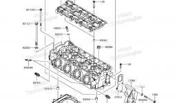 Головка блока цилиндров для гидроцикла KAWASAKI JET SKI ULTRA 310X (JT1500PEF) 2014 г.