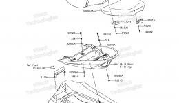 SEAT для гидроцикла KAWASAKI JET SKI ULTRA 310X (JT1500PEF) 2014 г.