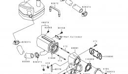 MUFFLER для гидроцикла KAWASAKI JS550-B1 1990 г.