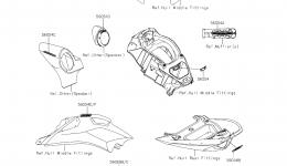 DECALS для гидроцикла KAWASAKI JET SKI ULTRA 310LX (JT1500MEF) 2014 г.