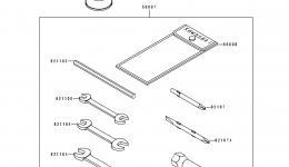 Набор инструментов для гидроцикла KAWASAKI JS550-B1 1990 г.