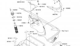 Hull Rear Fittings для гидроцикла KAWASAKI JET SKI ULTRA 300X (JT1500HCFA) 2012 г.