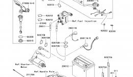 Electrical Equipment (A6F/A7F) для гидроцикла KAWASAKI JET SKI STX-15F (JT1500A7F) 2007 г.
