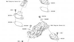 ENGINE MOUNT для гидроцикла KAWASAKI JET SKI STX-15F (JT1500ADF)2013 г.
