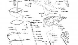 Hull Front Fittings для гидроцикла KAWASAKI JET SKI ULTRA 260X (JT1500E9F) 2009 г.