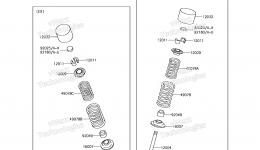 Valve(s) для гидроцикла KAWASAKI JET SKI ULTRA 310X (JT1500PEF) 2014 г.