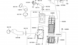 Inter Cooler для гидроцикла KAWASAKI JET SKI ULTRA 300X (JT1500HDF) 2013 г.