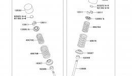 Valve(s) для гидроцикла KAWASAKI JET SKI ULTRA LX (JT1500C8F) 2008 г.