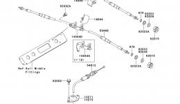 CABLES для гидроцикла KAWASAKI JET SKI STX-15F (JT1500ADF)2013 г.