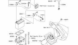 Electrical Equipment для гидроцикла KAWASAKI JET SKI ULTRA 260X (JT1500E9F) 2009 г.