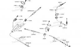 CABLES для гидроцикла KAWASAKI JET SKI ULTRA 310X (JT1500LHF) 2017 г.