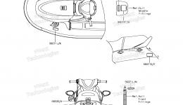 Эмблемы, наклейки для гидроцикла KAWASAKI JET SKI STX-15F (JT1500AGF) 2016 г.