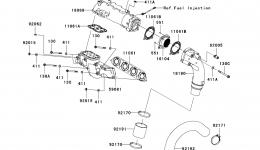 Muffler(s) для гидроцикла KAWASAKI JET SKI ULTRA 300X (JT1500HCFA) 2012 г.