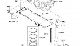 Cylinder/Piston(s) для гидроцикла KAWASAKI JET SKI STX (JT1500DAF) 2010 г.