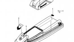 LABELS (JS550-A5) для гидроцикла KAWASAKI JST SKI 550 (JS550-A5) 1986 г.