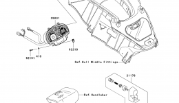 METERS для гидроцикла KAWASAKI JET SKI ULTRA 260X (JT1500E9F) 2009 г.