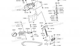 Hull Front Fittings для гидроцикла KAWASAKI JET SKI STX-15F (JT1500AGF) 2016 г.