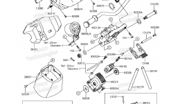Румпель (рукоятка управления) для гидроцикла KAWASAKI JET SKI ULTRA 310LX (JT1500MGF) 2016 г.