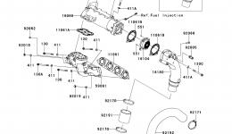Muffler(s) для гидроцикла KAWASAKI JET SKI ULTRA 300X (JT1500HDF) 2013 г.