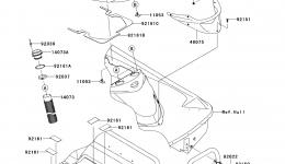 Hull Rear Fittings для гидроцикла KAWASAKI JET SKI ULTRA LX (JT1500C7F) 2007 г.