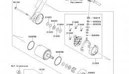 Стартер для гидроцикла KAWASAKI JET SKI ULTRA 300X (JT1500HDF) 2013 г.