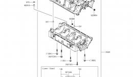 Крышка картера для гидроцикла KAWASAKI JET SKI ULTRA LX (JT1500KCF) 2012 г.